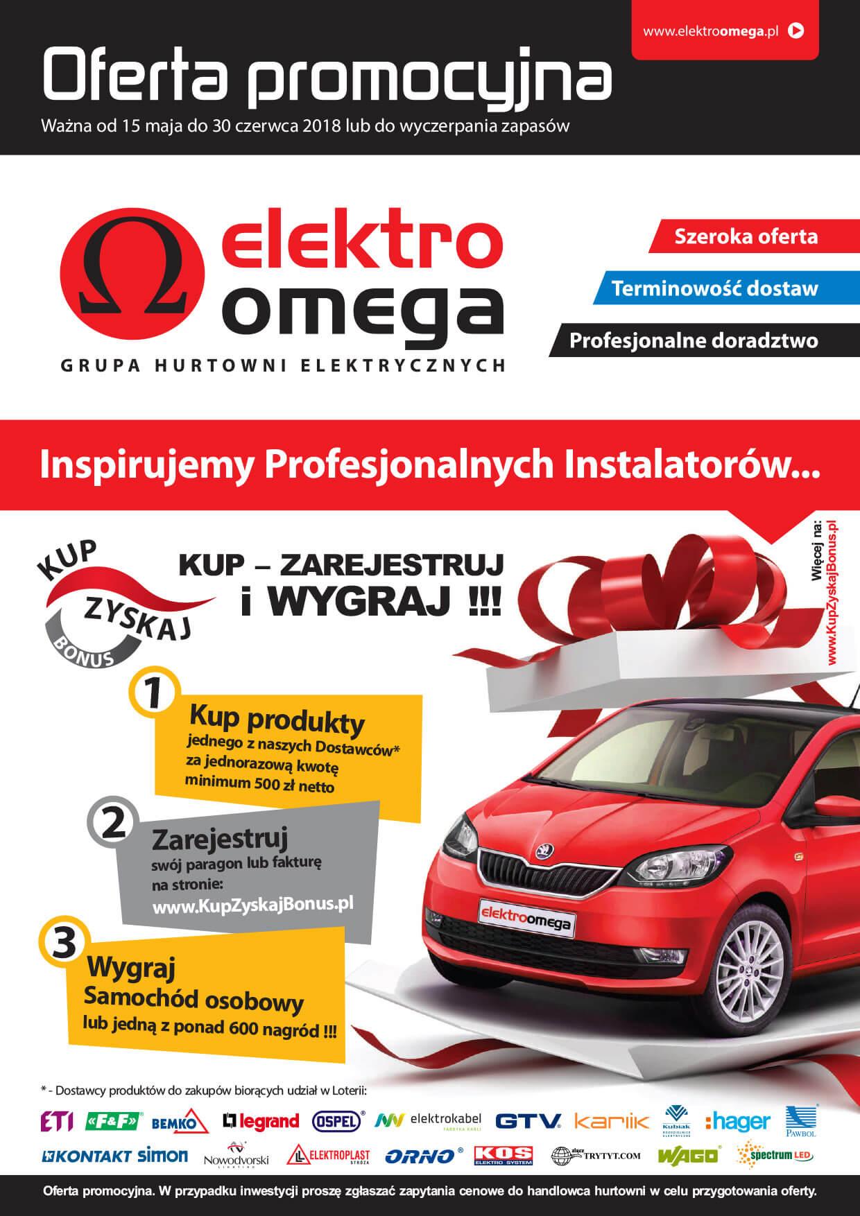 Oferta Promocyjna Elektro Omega od 15.05.2018 do 30.06.2018